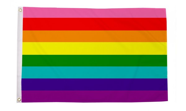 Gay Pride Flag (Originalversion in acht Farben, Juni 1978) 90 x 150 cm